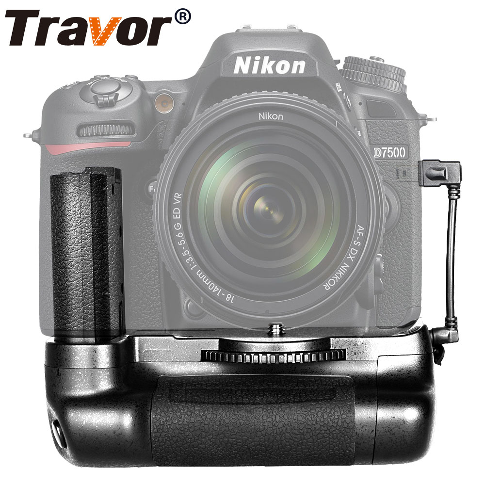 Travor vertical battery grip holder for Nikon D7500 DSLR Camera work with EN-EL15a or EN-EL15 battery battery hand handle grip holder 2 step vertical power shutter for nikon d200 dslr camera as mb d200 2 x en el3e car charger