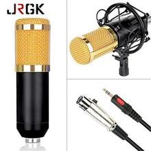 JRGK BM 800 Gravação De Som Microfone Condensador com o Choque de Montagem Para O Rádio Broadcasting Cantar 3.5mm Microfone Do Computador Com Fio