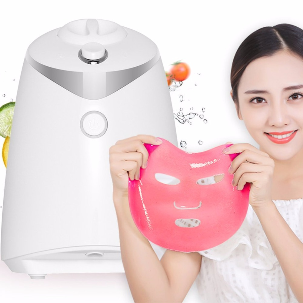 Face Care DIY Homemade Fruit Vegetable Crystal Collagen Powder Beauty Facial Mask Maker Machine For Skin Whitening Hydrating US diy natural face mask machine automatic fruit facial mask maker vegetable collagen mask english voice machine face skin care