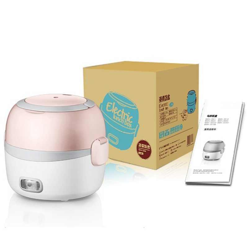 51f2c872d2 ... DMWD 2 Layer 1.3L Mini Rice Cooker 220V Office Portable Electric Lunch  Box Food Heater