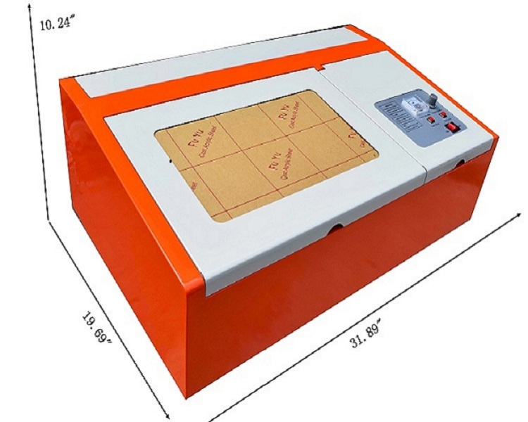 40w Laser Engraving Cutting Machine CO2 Engraver Cutter Energy Saving Red