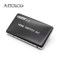 AIXXCO HDMI V2.0 Splitter Switch 4 input 1 output HDMI Switcher 4X1 for XBOX 360 PS4/3 Android HDTV 4K*2K 4 Port HDMI Adapter