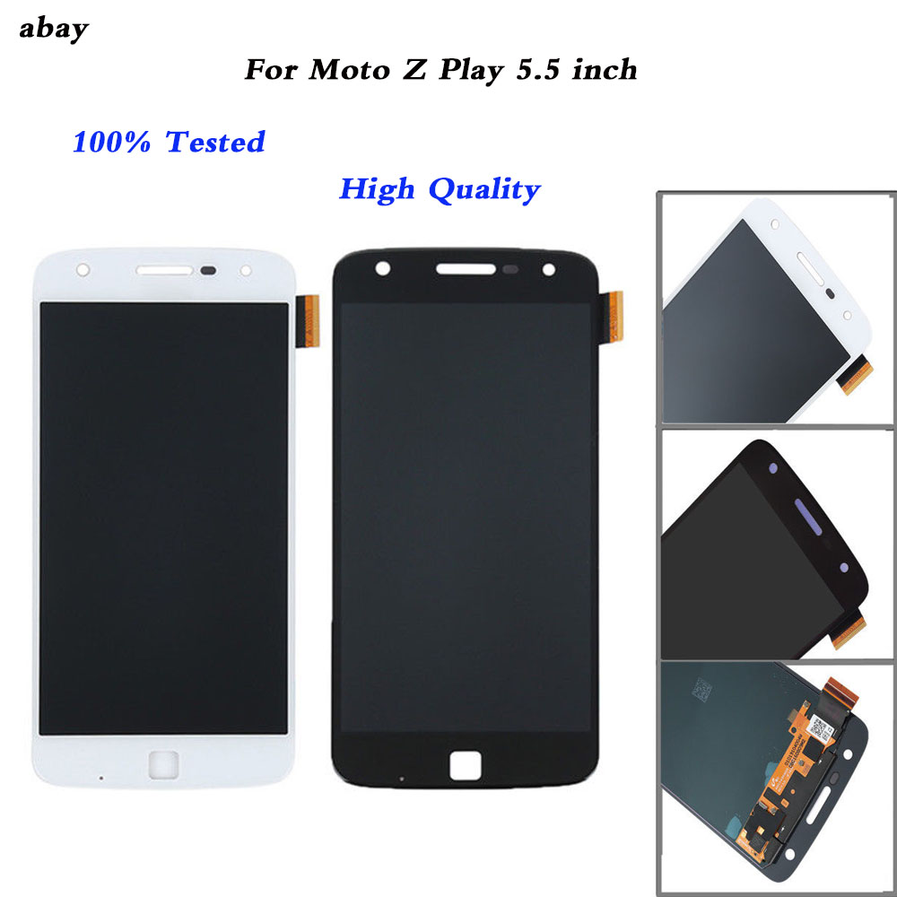 5.5 inch LCD Display For Motorola Moto Z Play <font><b>XT1635</b></font> Touch <font><b>Screen</b></font> Digitizer 1920*1080 Assembly Replacement Parts image