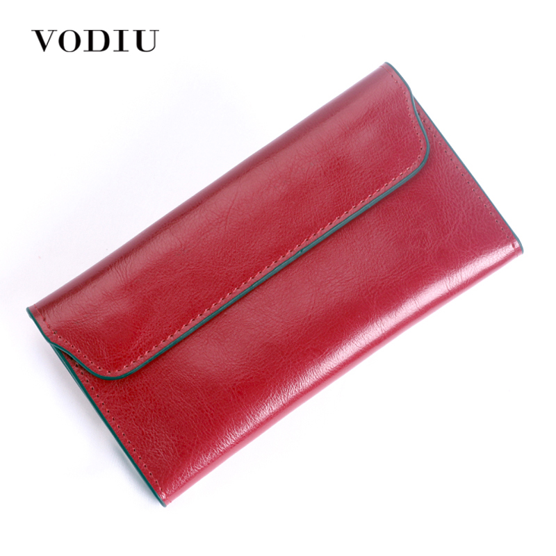 Women Wallets Leather Long Purses Slim Envelope Phone Magnetic Buckle 2017 Female Leather Card Holder Coin Money Bag Cash Girl цена и фото