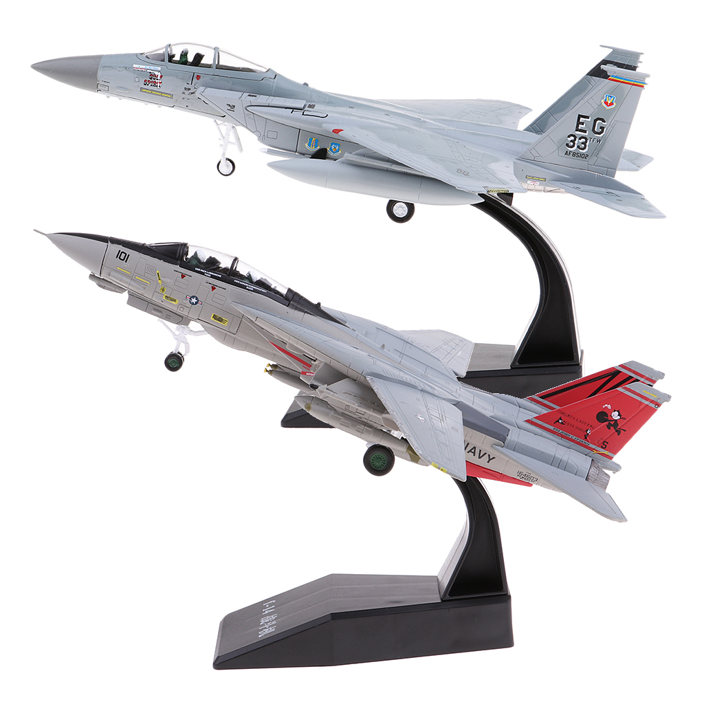 1 100 High Simulation Diecast Fighter Plane Model Toys USA F 14 F 15 Fighter Model