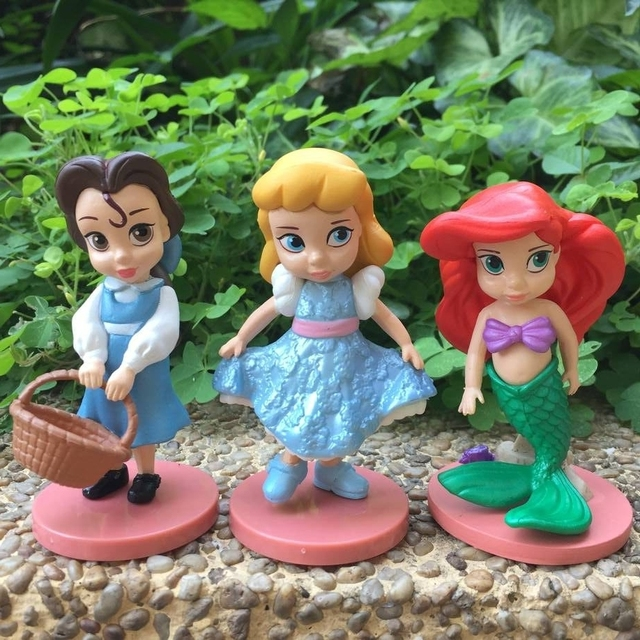 Disney Moana Snow White Mulan Mermaid Tiana Jasmine 11pcs