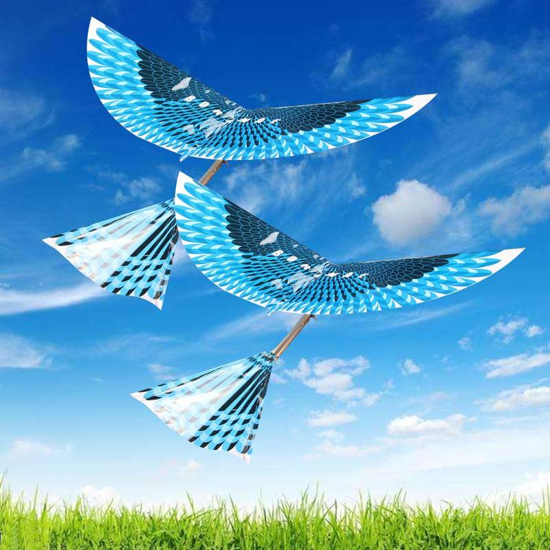 Diy Outdoor Fun & Sports Kite Flying Kids Toys For Children Interactive Educative Toy Cartoon Rubber Power Flying Bird Kites