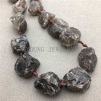 MY0091 Knotted Natural Nugget Tea Crystal Raw Quartz,Rough Quartz Drilled Beads for Jewelry Making