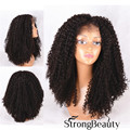 Front Lace Wig Long kinky curly #2 Dark brown Curly Weave Hairstyles Synthesis Heat Resistant Fiber Hair Wigs Free shipping