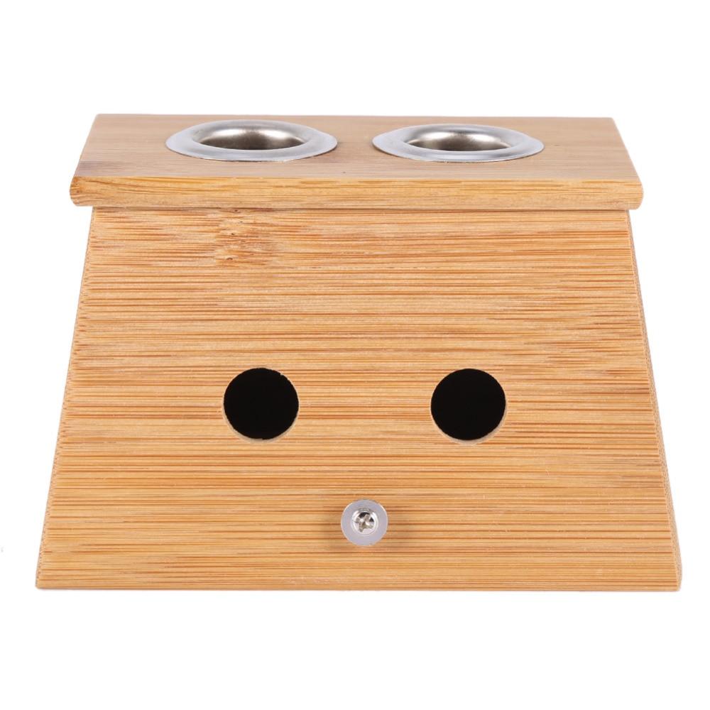 2 типтері Massager Moxa Roll Holder Moxibustion Bamboo Box - Денсаулық сақтау - фото 5