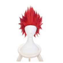 Boku no Hiro Akademia Eijirou Kirishima Eijiro short wig My Hero Academia Short Red Cosplay Wig+Wig Cap