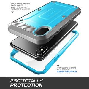 Image 3 - Para o iphone x xs sucase caso ub pro série de corpo inteiro áspero coldre clipe caso com protetor de tela embutido para iphone x xs