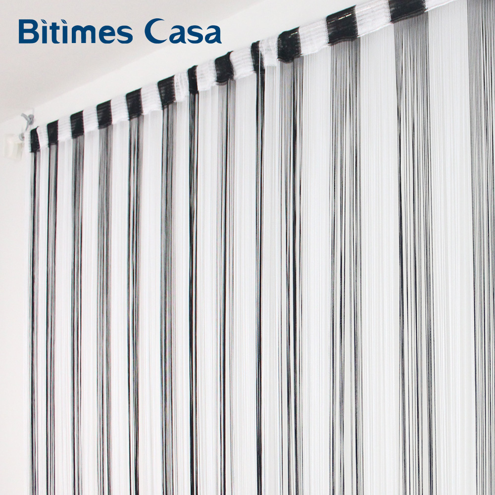 Black And White Color MIX Combination String Curtain 300*300CM Solid Color High Density Window Vanlance Room Divider