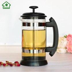 1000 ml 유리 주전자 프랑스 커피 차 여과기 홈 수동 차 메이커 냄비 내열 필터 냄비 커피 도구 차 착용