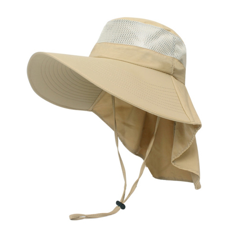 Outdoor Sun Protection Caps Breathable Hunting Fishing Hat Fishing Cap Wide Brim Hat With Neck Flap Women Men's Sportswear