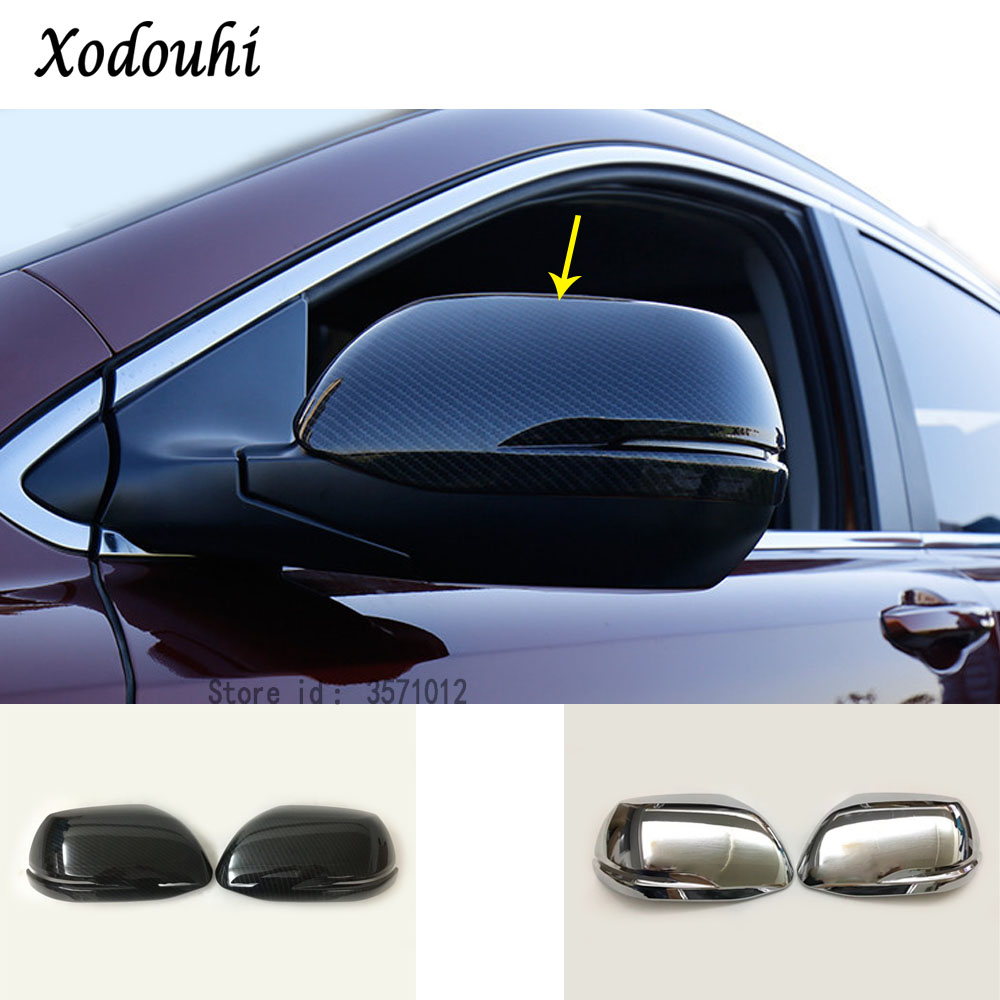 2pcs Glossy Chrome Side Mirror Cover Rearview Trim Fit For Honda CR-V 2007-2011