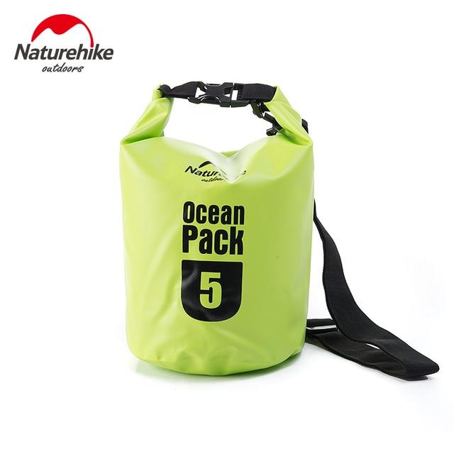 Naturehike 5L 10L 20L 30L 500D ПВХ речной поход дрейфующих Печать Сумки для рафтинга сумка для воды влагостойкие непромокаемые открытый рюкзак