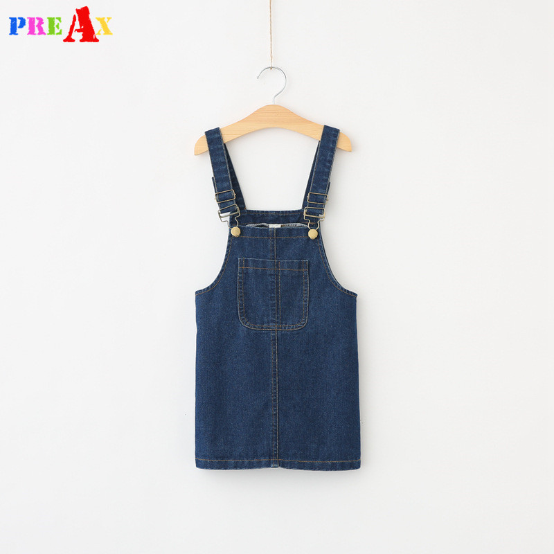 2017 Fashion Style Baby Girls New Arrival Denim Suspender Sundress Girls Denim Mini Strap Dress Kids Solid Blue Cotton Dresses 2017 new arrival baby girls denim sundress girls fashion sundress kids suspender denim dress child casual sundress