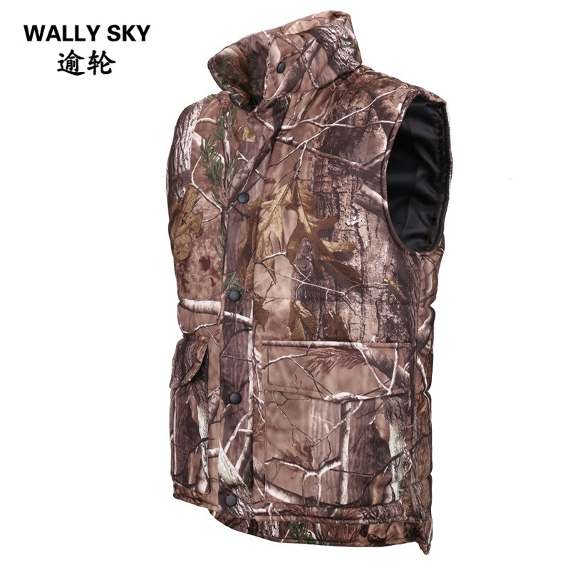 Hot Hunting Vest Sniper Tactical Bionic Camouflage Vest Army Fans Hunting Thermal Vests Camo Clothes for Winter Outdoor Sports