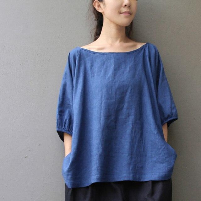 Solid O-neck Short sleeve Linen Women T Shirt Plus size Loose Casual Summer T-Shirt Oversized Kawaii Tee Shirt Femme Tops A100
