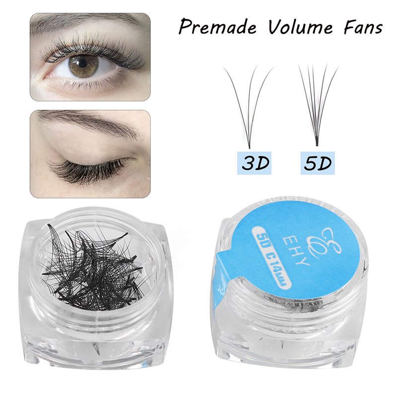 80Fans/box Premade Russia Volume Fan Mink False Eyelashes 3D 5D Lash Extension Natural Long Semi-perman Fake Lashes Makeup Tools