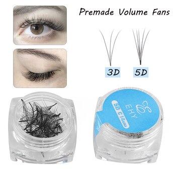 80Fans/box Premade Russia Volume Fan Mink False Eyelashes 3D 5D Lash Extension Natural Long Semi-perman Fake Lashes Makeup Tools