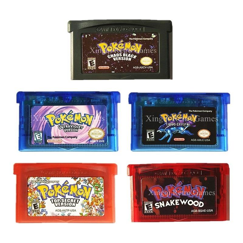Nintendo gba juego pokemon serie segunda recopilación cartucho de consola de vid