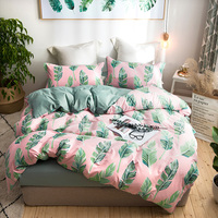 Duvet Cover Flat Bed Sheet soft Pillowcases white green Carrot Cute Bedding Set Girl Kid Teen King queen Twin Full Home Textiles