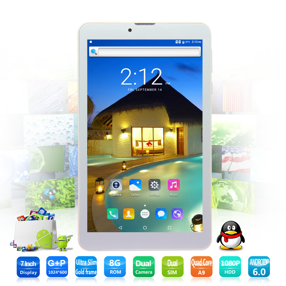 New 7 Inch 3G Phone Call Dual Core HD LCD Android 6 0 Tablets pc CE