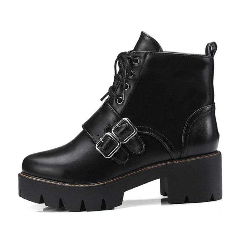 8203580b881a15 Fourrure Chaussures forme Chaude Kemekiss Bottines Plate Haute Boucle Mode  Femme Punk Noir Bottes À Femmes Talons 43 vert Taille 32 ...