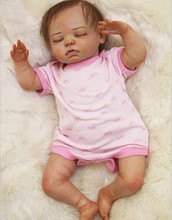 """18"""" 45CM Bebe Reborn Doll Baby Dolls Full Handmade Soft Silicone Baby Toys Best Girls Christmas Gift Brinquedos Juguetes"""