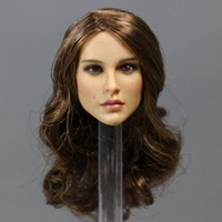 1/6 Scale Female Woman Sexy Girl Lady head Sculpt KIMI TOYS KT008 Head play Long Curly Hair F 12 Inches Phicen HT Body Figure