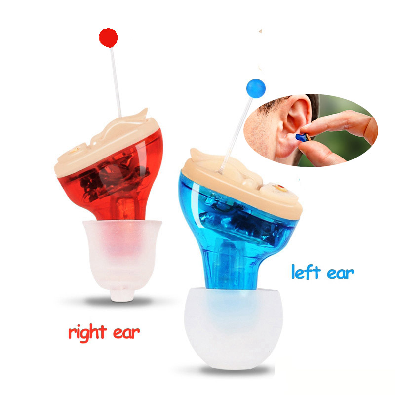 Portable Inner Ear Hearing Aid Invisible Elderly Deaf Hearing Aid Digital Mini Hearing Device Wireless Sound