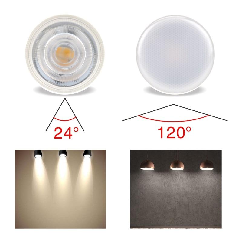 LATTUSO 10pcs LED Light Bulb Spotlight MR16 GU10 6W AC 220V COB Chip Beam Angle 24 120Degree LED Spotlight For Table Lamp in LED Bulbs Tubes from Lights Lighting