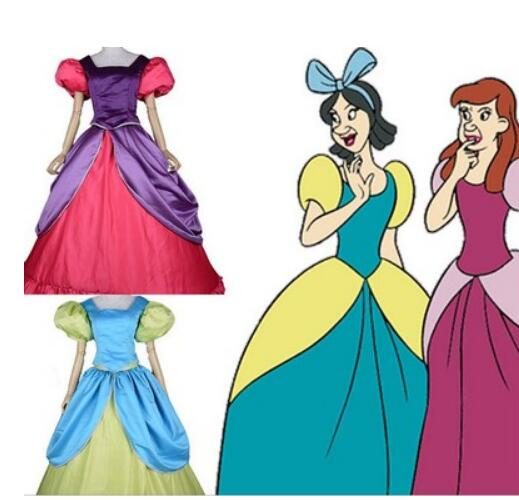 Cinderella Anastasia Drizella cosplay Costume Fancy Halloween costumes for adult Cinderella sisters dress custom made