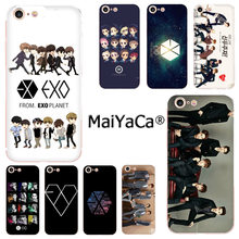 MaiYaCa Kpop exo Lucky one Luxury Fashion Phone Case for Apple iphone 11 pro 8 7 66S Plus X 5S SE XR XS XS MAX Mobile Cover(China)