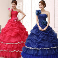 10 Colors Prom Dresses 2016 Soloists Stage Performance Clothing Costumes Ball Gown Elegant Gowns Long Puffy