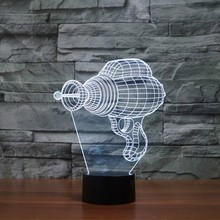 New 3D USB LED Table Lamp Creative Acrylic LED Night Light Colorful Atmosphere Decoration for Children