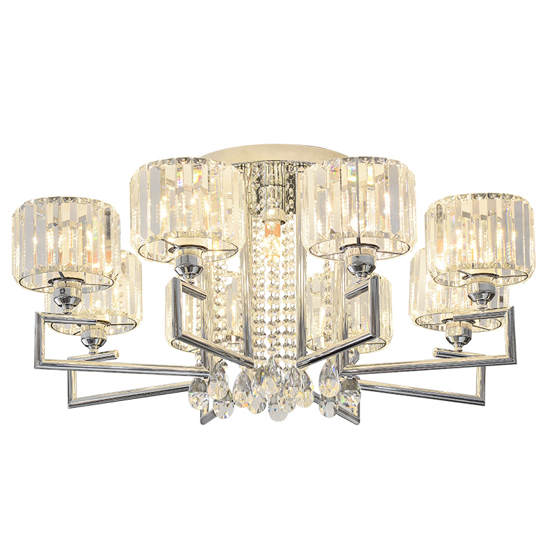 Modern Luxury Round Crystal Living Room Ceiling Lamps Restaurant Study Room Ceiling Light Dining Room Ceiling Lighting Fixtures