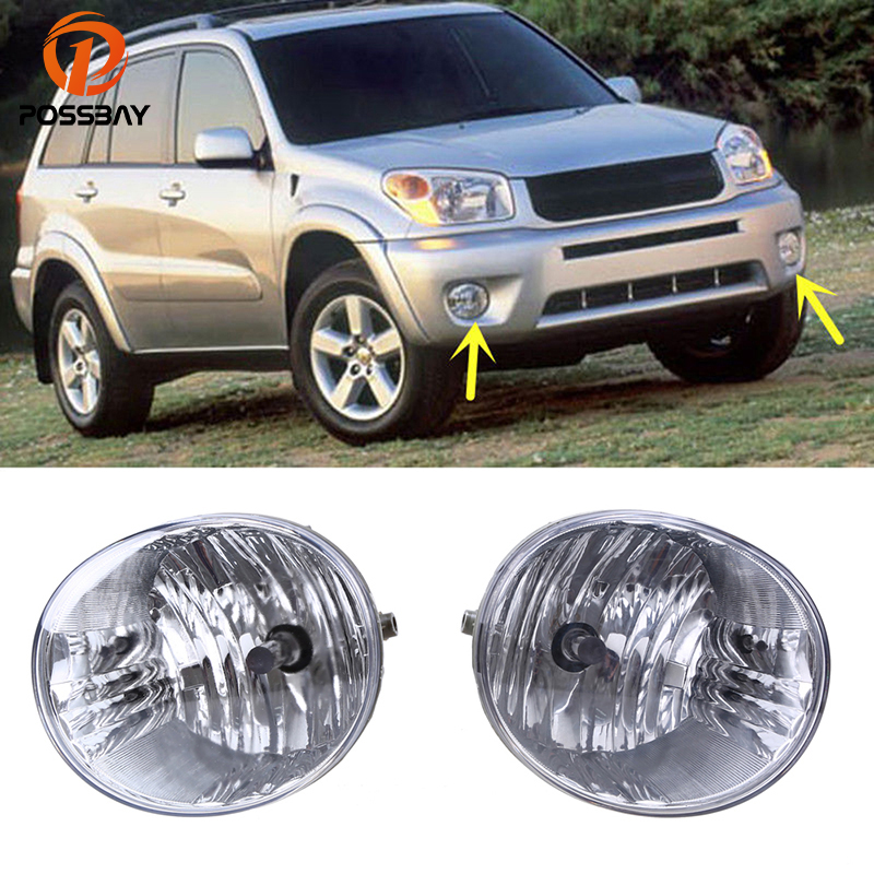 POSSBAY Front Fog Lights for Toyota RAV4 2004-2005 Clear Lens Halogen Bulbs for 2005-2007 Toyota Avalon Lower Bumper Foglamps new front right lower control arm for lexus es300 toyota avalon page 3