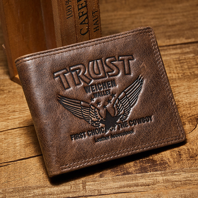 Genuine Leather Men Wallet Short Coin Purse Small Vintage Wallets Men Luxury Brand High Quality Designer Cow Leather Wallet Male baellerry new fashion genuine leather wallet men designer wallets men with coin pocket high capacity luxury brand men s purse