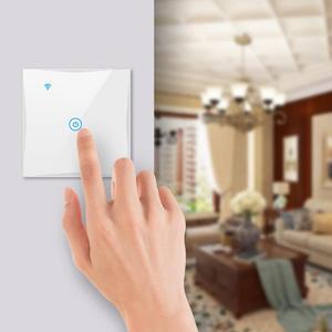 Image 5 - Wifi קיר מגע מתג האיחוד האירופי ניטראלי חוט הנדרש חכם אור מתג 1 2 3 כנופיית 220V חכם חיים בית תמיכה Alexa Google בית