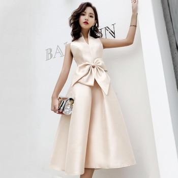 279461bd2 Retro Dress For Women Sexy Sleeveless Stand Collar Bow Elegant Midi Dress  Party Club Night Dress vestidos vintage robe femme