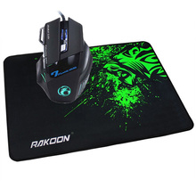 2018 Latest 5500 DPI 7 Buttons LED Optical USB Wired Gaming Mouse Mice+Gaming Mouse Pad Locking Edge Mouse Mat Gift  for PC