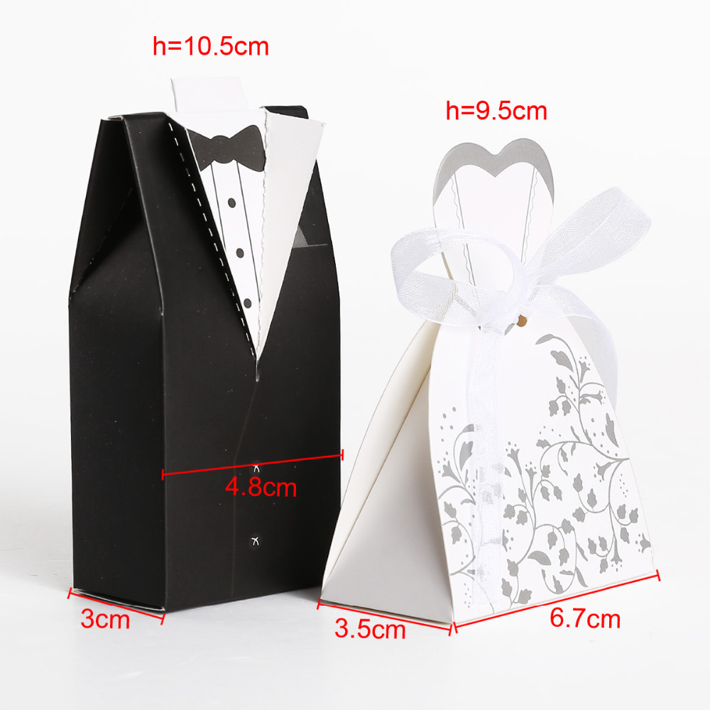 Wedding Candy Box Bride And Groom Candy Bag Wedding Favor Box Gift ...