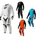 Moto jersey & calças conjunto combinação mtb xc terno moto gp motocross motociclismo mountain bike terno preto