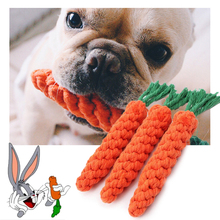 Carrot pet bite rope Dogs Pets Toys Bitten interactive toy Pet molars cotton Dog For small/Large training toys