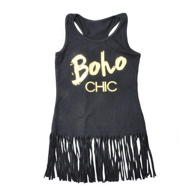 Kleine Mädchen Kleider 2017 Sommer Brief Boho Chic Sleeveless Kinder ...