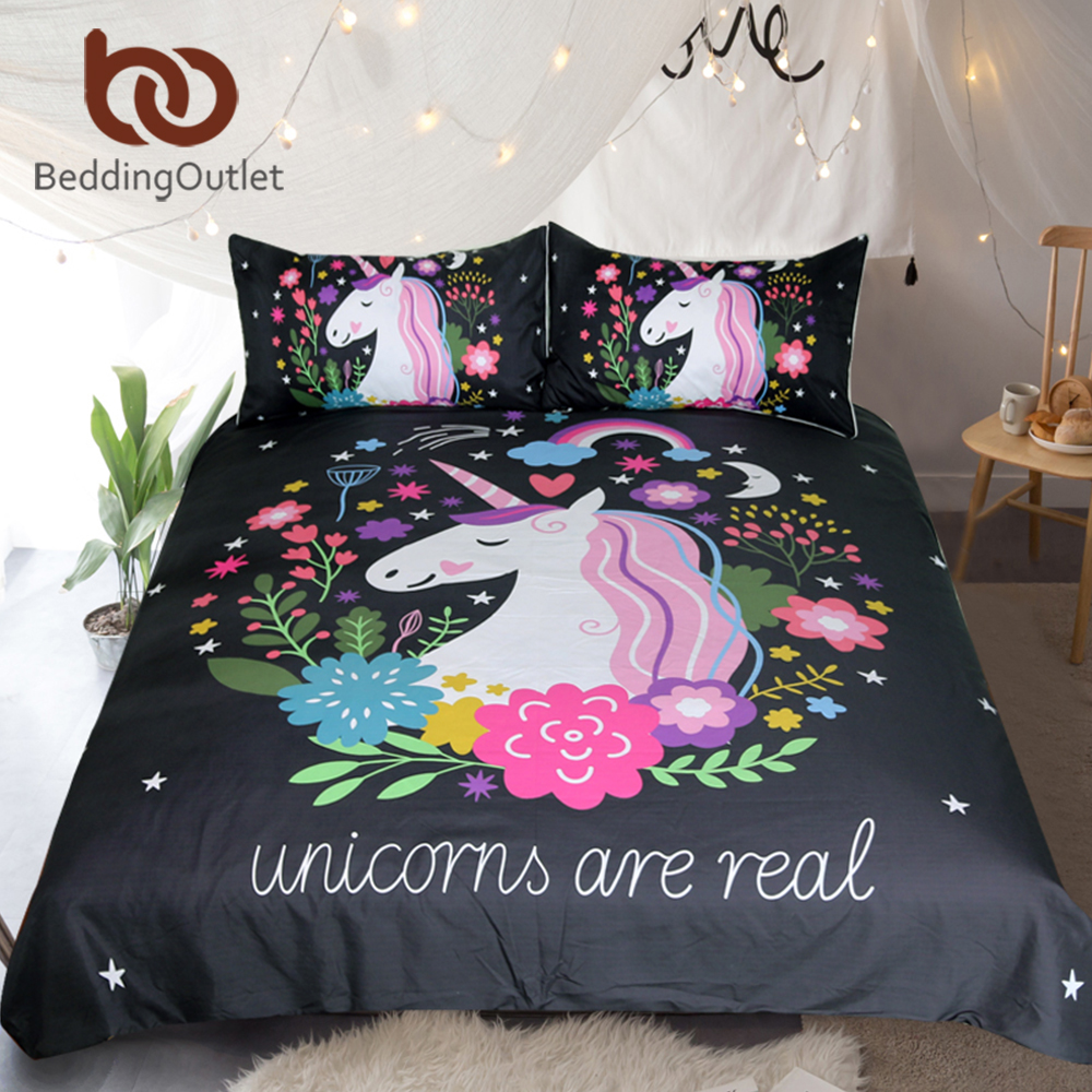 Beddingoutlet Unicorn Bedding Set Cartoon Print For Kids
