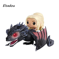 Elsadou 15 Game Of Thrones Daenerys Targaryen Ride Dragon Vinyl Action Toy Figures Children Toys Doll